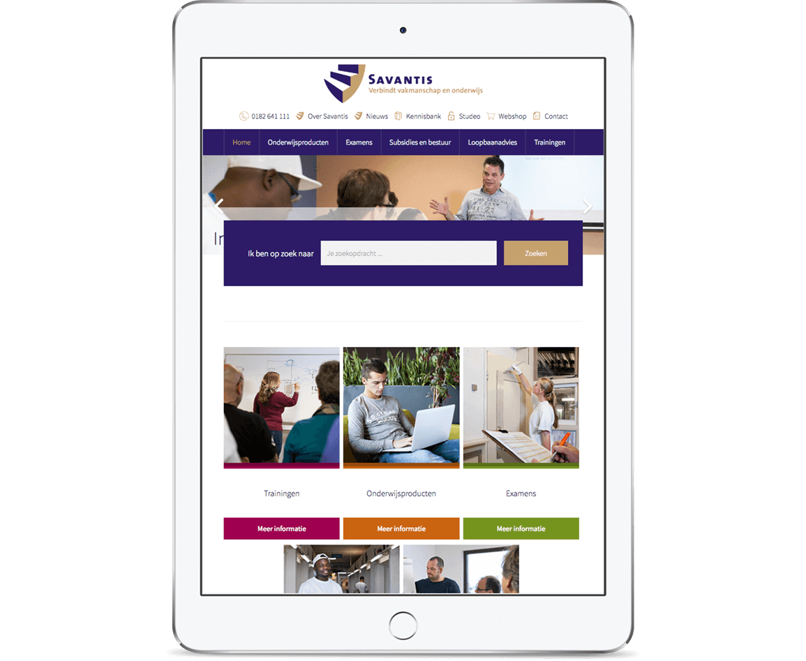 Homepage iPad Savantis
