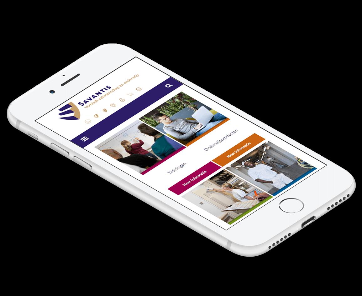 Mobiel website Savantis