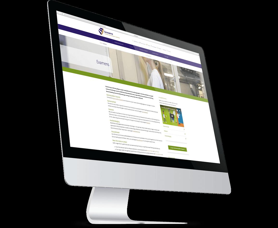 Detailpagina website Savantis