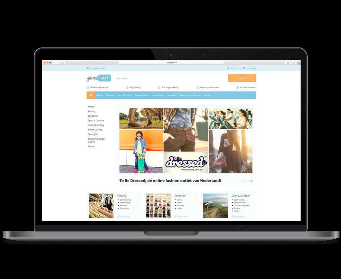 affiliate webshop Gek op Sale